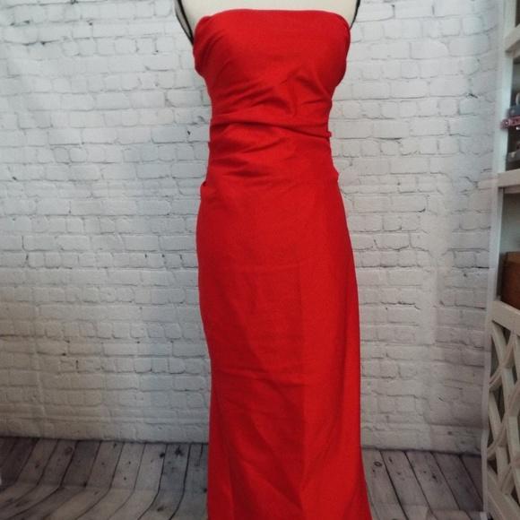 Night Way Collections Dresses Night Way Red Mermaid Fishtail